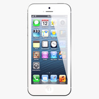 iphone 5 white phone 3ds