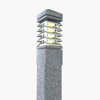 outdoor light 3d obj