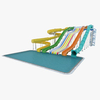 3ds waterslide slide