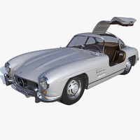 3d mercedes benz gullwing