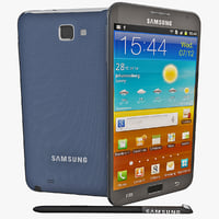 3d max black samsung galaxy note