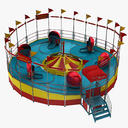 amusement park ride 3D models