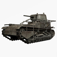 german wwii leichte traktor 3d model