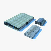 3d max warehouses industrial plant