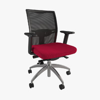 3d mesh office chair model