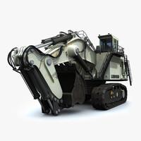 maya liebherr r9800 mining excavator