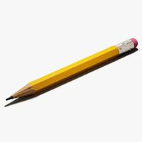 lead pencil 3d model