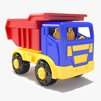 3d toy dumptruck model