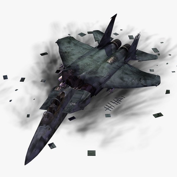 3d crashed f15e strike eagle