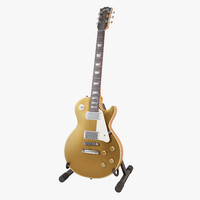 gibson les paul goldtop 3d model