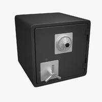 3d safe combination lock model