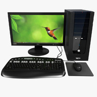 3d model personal computer monitor