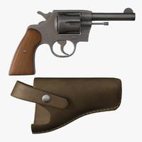 3d model 38 caliber pistol
