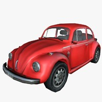 3d model of volkswagen beetle