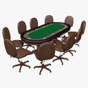 poker table 3D models