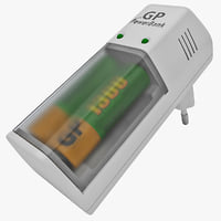 aaa batteries charger 3d model