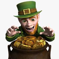 3d leprechaun rigged character