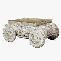distressed ionic capital coffee table 3ds