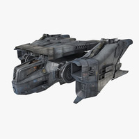 3d scifi fighter model