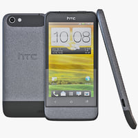 3d model black htc v cell phone