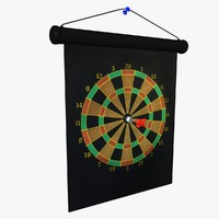 3d magnetic dart board model