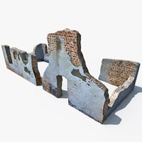 ruins modelled 3d 3ds