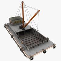 maya crane barge