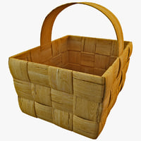 3d model wooden basket 2