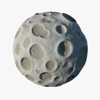 stylized cartoon moon 3ds