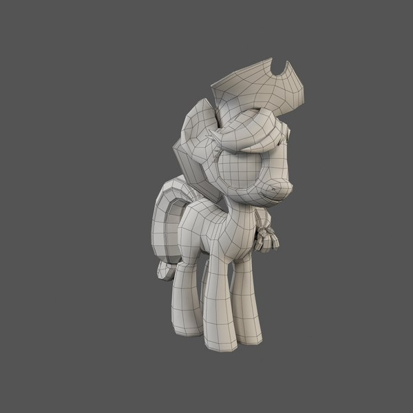 little pony applejack 3d model - My Little Pony Applejack... by Constantin Os