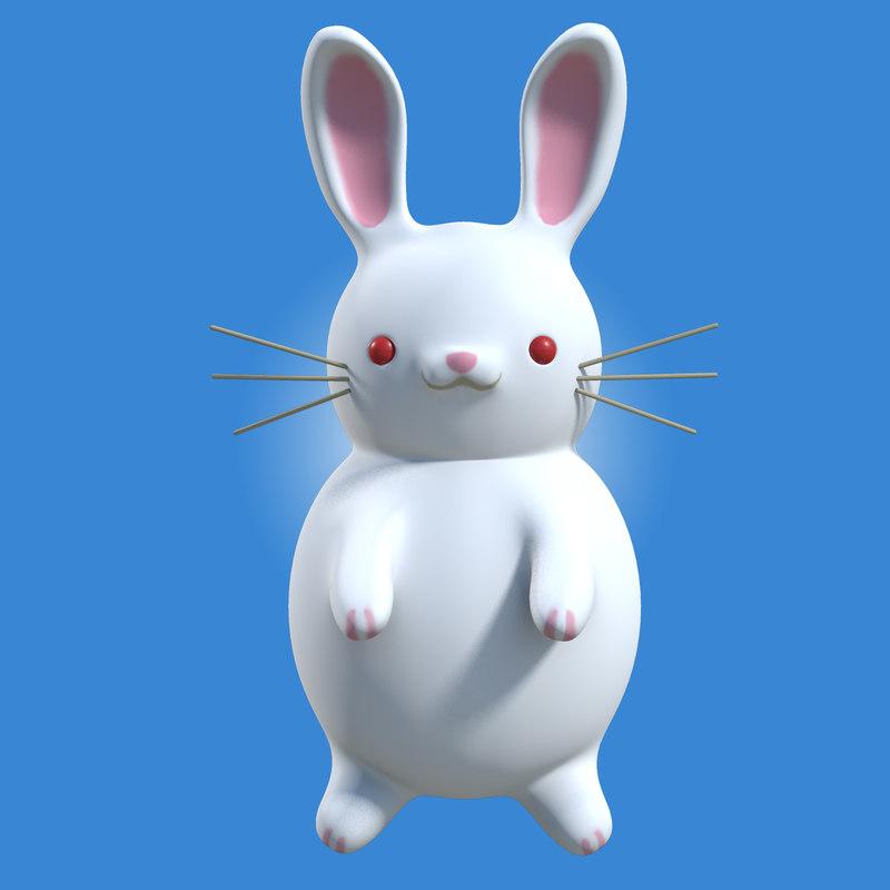 white rabbit 3d model coniglio albino nuova.jpg