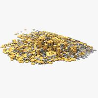 gold coin 3D models