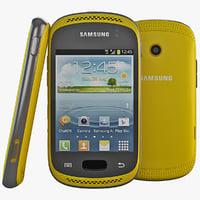 obj yellow samsung galaxy cellphone