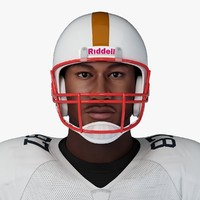 football player 3d obj