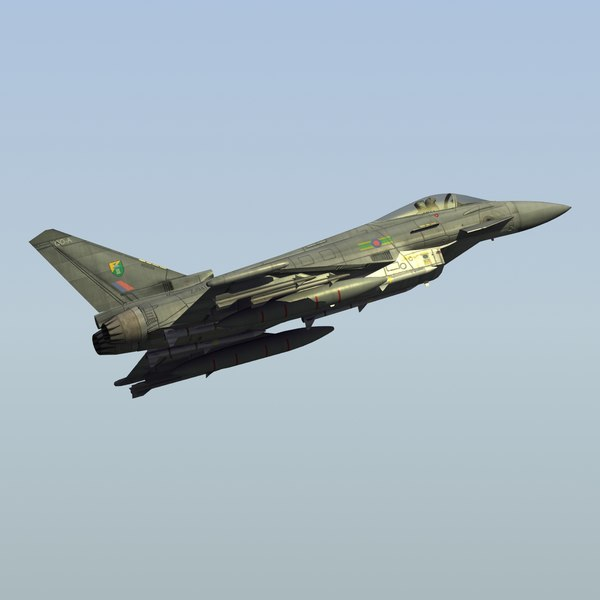 3d typhoon fgr4 fighter raf model