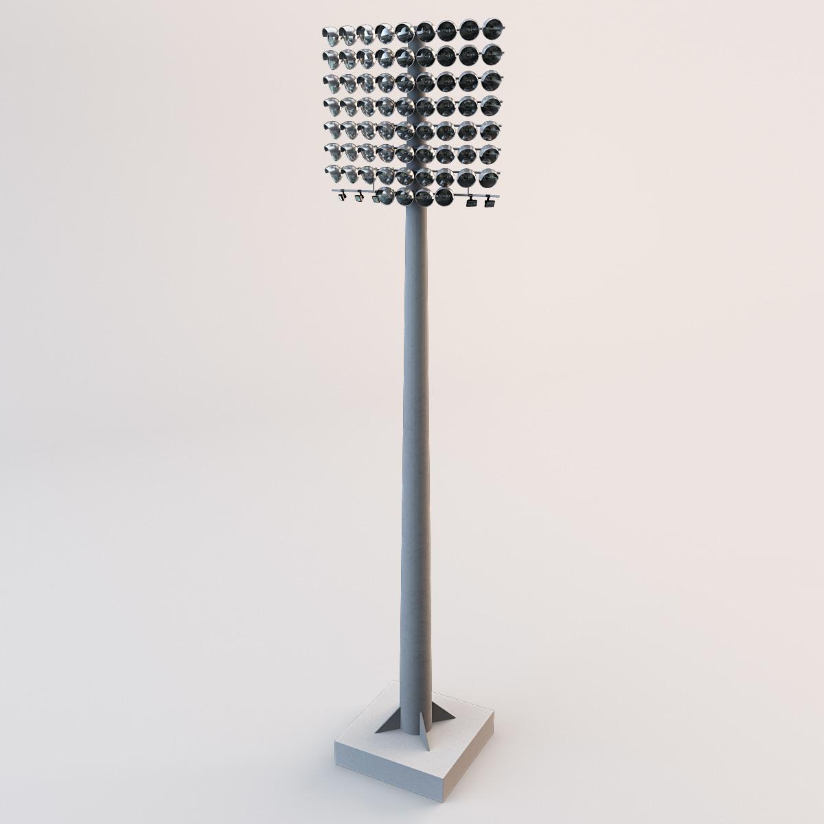 Light Tower Baseball Training: 3ds Max Stadium Lights