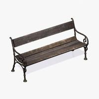 city bench 3d model