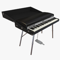 fender rhodes 73 piano 3d model