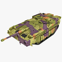 3d model swedish stridsvagn 103 main