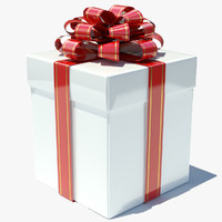 3ds max gift box white