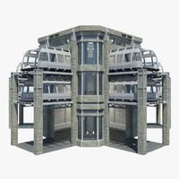 sci-fi station 1 3d model