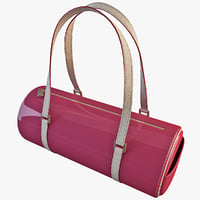 3d women handbag accessories model