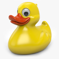 3d yellow rubber duck