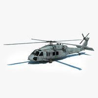 3d max mh-60s sikorsky military helicopter