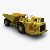 3d max articulated underground mining truck