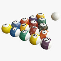billiard balls set 3d 3ds