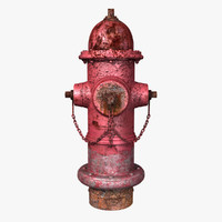 Old Red Fire Hydrant