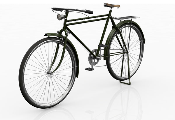 old bicycle 3d max