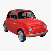 3d fiat 500 rigged