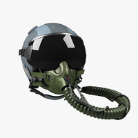 3d model fighter helmet hgu-55